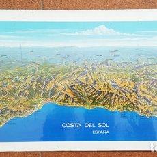 Affiches de Tourisme: CARTEL COSTA DEL SOL, PUBLICIDAD DEL BANCO ESPAÑOL DE CREDITO 1969, 70 X 33,50 CM POSTER. Lote 183168241