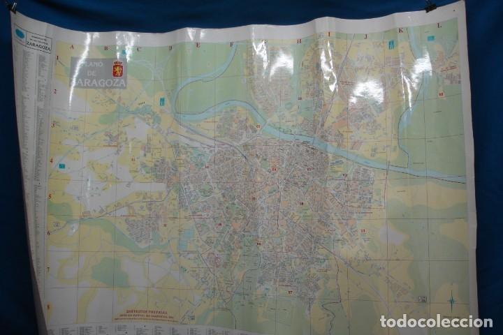 CARTEL/ MAPA DE ZARAGOZA EDITADO POR EL AYUNTAMIENTO EN 1982 (Coleccionismo - Carteles Gran Formato - Carteles Turismo)