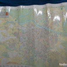 Carteles de Turismo: CARTEL/ MAPA DE ZARAGOZA EDITADO POR EL AYUNTAMIENTO EN 1982. Lote 183329438