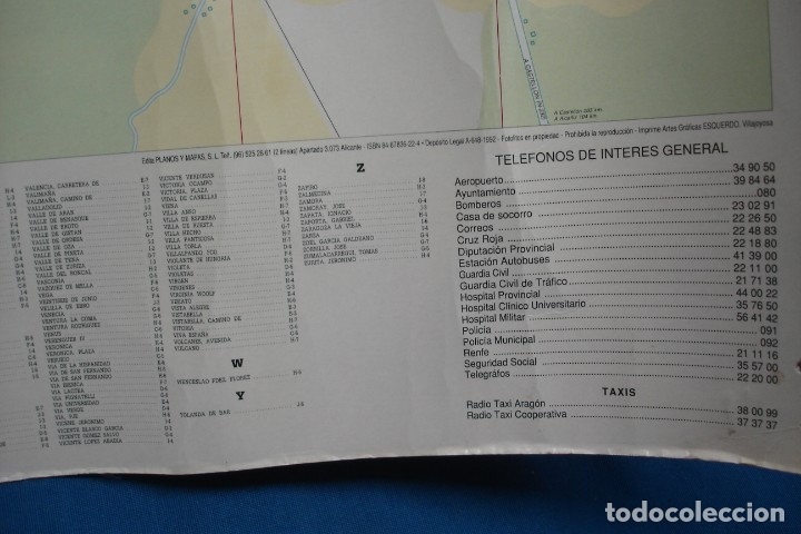 Carteles de Turismo: CARTEL/ MAPA DE ZARAGOZA EDITADO POR EL AYUNTAMIENTO EN 1982 - Foto 2 - 183329438