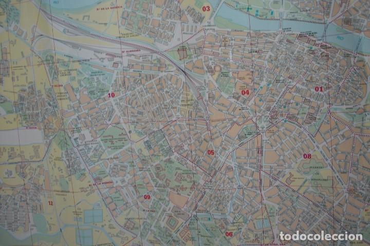 Carteles de Turismo: CARTEL/ MAPA DE ZARAGOZA EDITADO POR EL AYUNTAMIENTO EN 1982 - Foto 7 - 183329438
