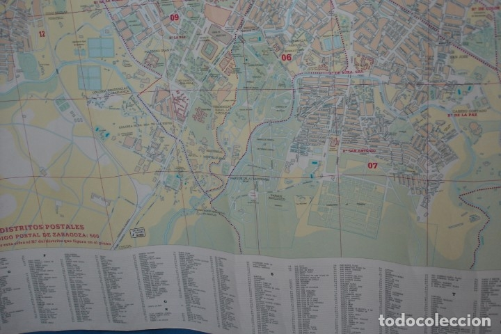 Carteles de Turismo: CARTEL/ MAPA DE ZARAGOZA EDITADO POR EL AYUNTAMIENTO EN 1982 - Foto 8 - 183329438