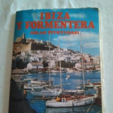 Affissi di Turismo: PLANO MAPA DE IBIZA Y FORMENTERA ISLAS PITHYUSAS DESPLEGABLE 1979. Lote 183557102