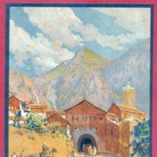 Carteles de Turismo: CARTEL TURISMO PUBLICIDAD MARRUECOS CHAUEN PROTECTORADO ESPAÑOL BERTUCHI ORIGINAL. Lote 183578551