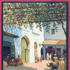 Carteles de Turismo: CARTEL TURISMO PUBLICIDAD MARRUECOS TETUAN PROTECTORADO ESPAÑOL BERTUCHI ORIGINAL. Lote 183578781