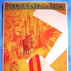 Carteles de Turismo: CARTEL POSTER RETRO. BARCELONA, LA CAPITAL DEL MEDITERRANEO, CATALUÑA - P. T. REPUBLICA ESPAÑOLA. Lote 183897240