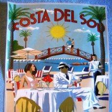 Carteles de Turismo: CARTEL POSTER TURISMO RETRO - COSTA DEL SOL, MARBELLA BEACH CLUB.. Lote 183897448