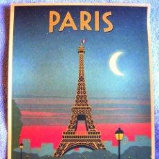 Carteles de Turismo: CARTEL POSTER - RETRO VINTAGE - PARIS TORRE EIFFEL, FRANCIA. . Lote 183897903
