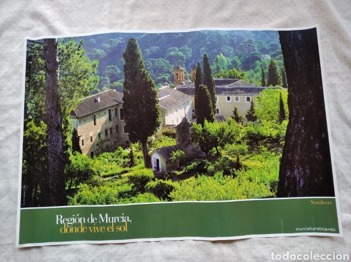 BONITO PÓSTER LÁMINA REGION DE MURCIA DONDE VIVE EL SOL NORDESTE MURCIA TURÍSTICA / 47 X 69 CM (Coleccionismo - Carteles Gran Formato - Carteles Turismo)