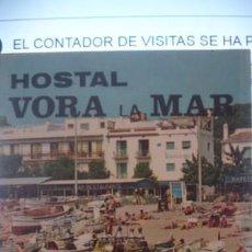 Carteles de Turismo: HOSTAL VORA LA MAR TAMARIU COSTA BRAVA - DESPLEGABLE CON PLATOS DEL HOSTAL TEXTO EN FRANCÉS . Lote 190842047
