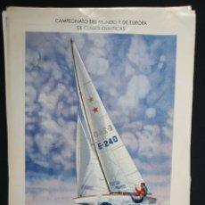 Carteles de Turismo: CARTEL MUNDO VELA '92. TAMAÑO A3. Lote 190858140