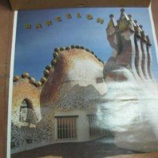 Carteles de Turismo: CARTEL BARCELONA CASA BATLLO. GAUDI. 1992. 70 X 50 CM.. Lote 190917512