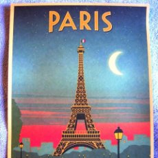 Carteles de Turismo: CARTEL POSTER - RETRO VINTAGE - PARIS TORRE EIFFEL, FRANCIA.. Lote 191072336