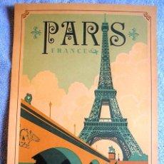 Carteles de Turismo: CARTEL POSTER - RETRO VINTAGE - PARIS TORRE EIFFEL, FRANCIA.. Lote 191073163