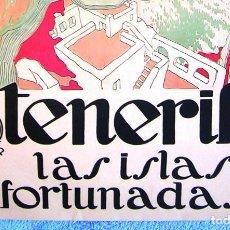 Carteles de Turismo: CARTEL POSTER - TENERIFE CANARIAS -LAS ISLAS AFORTUNADAS- PATRONATO NNAL TURISMO REPUBLICA ESPAÑOLA. Lote 191111007