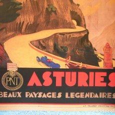 Carteles de Turismo: CARTEL POSTER ASTURIAS ( ASTURIES ) - PATRONATO NACIONAL DE TURISMO DE LA REPUBLICA ESPAÑOLA.. Lote 191111108