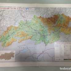Carteles de Turismo: MAPA COMARCAS DEL SUR DE OURENSE, VIANA, VERÍN, A LIMIA, BAIXA LIMIA. Lote 192376546