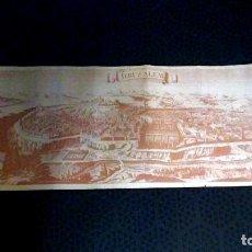 Carteles de Turismo: CATALOGO PLEGABLE DE JERUSALEN , CON FOTOGRAFÌA DE LA CIUDAD EN UNA CARA Y OTRA CARA CON GRABADO AN. Lote 192511972