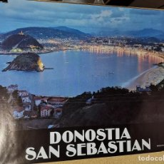 Carteles de Turismo: CARTEL ORIGINAL PUBLICITARIO DONOSTIA SAN SEBASTIAN 1983 -LA CONCHA --100 X 70 APROX.. Lote 193908065