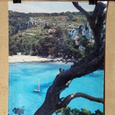 Carteles de Turismo: CARTEL ORIGINAL SECRETARIA ESTADO TURISMO - MENORCA ISLAS BALEARES 1978-------------100 X 70 APRX.. Lote 193909796