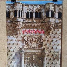 Carteles de Turismo: CARTEL ORIGINAL SECRETARIA ESTADO TURISMO - PALACIO DEL INFANTADO GUADALA JARA- 1979--100 X 70 APRX.. Lote 193936533