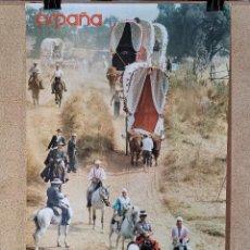 Carteles de Turismo: CARTEL ORIGINAL SECRETARIA ESTADO TURISMO ----ROMERIA DEL ROCIO--- 1979------100 X 70 APRX.. Lote 193968442