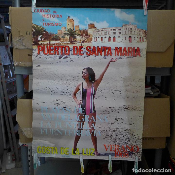 CIUDAD DE HISTORIA Y TURISMO EL PUERTO DE SANTA MARIA COSTA DE LA LUZ VERANO DE 1968 (Coleccionismo - Carteles Gran Formato - Carteles Turismo)