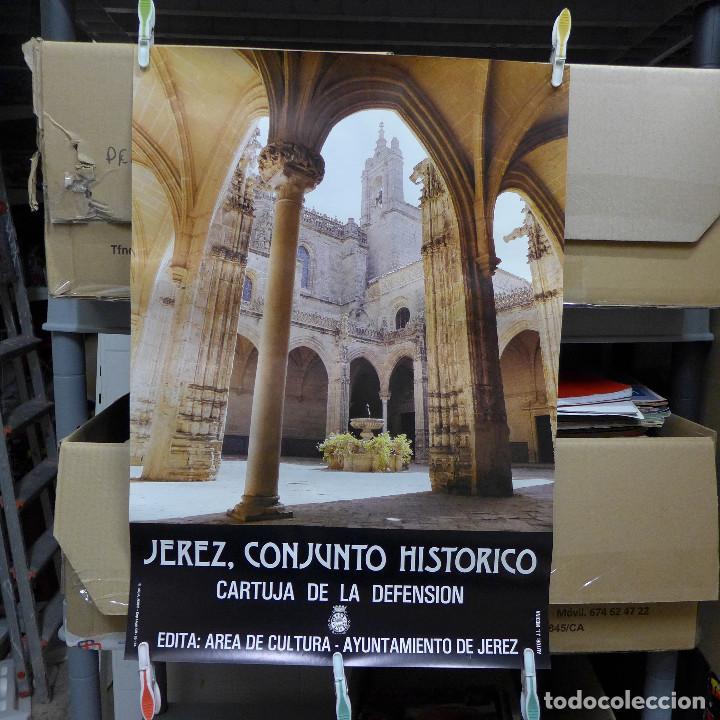 CARTEL DE JEREZ CONJUNTO HISTORICO CARTUJA DE LA DEFENSION (Coleccionismo - Carteles Gran Formato - Carteles Turismo)
