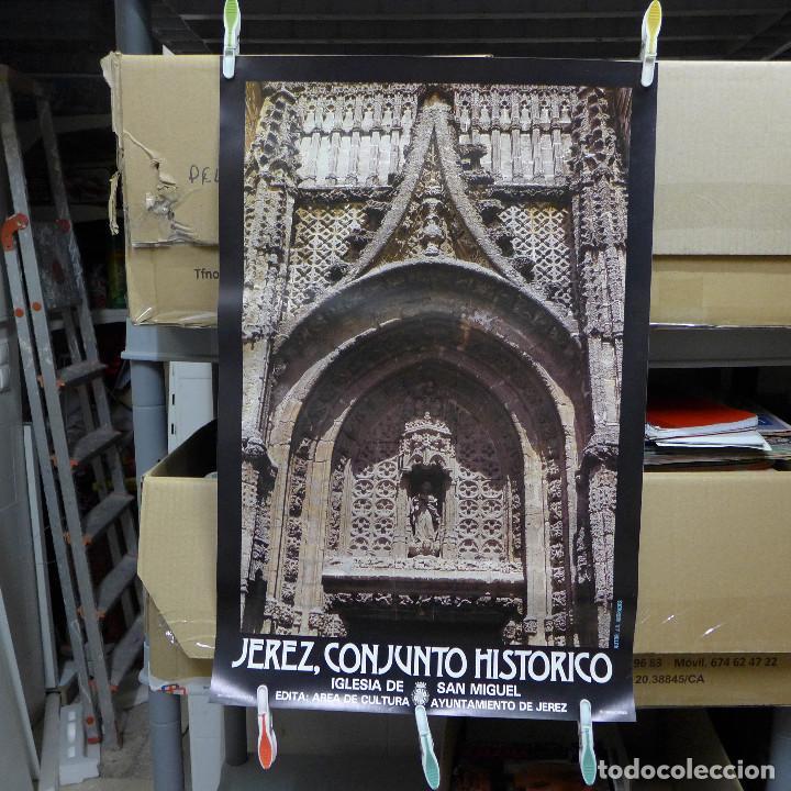CARTEL DE JEREZ CONJUNTO HISTORICO IGLESIA DE SAN MIGUEL (Coleccionismo - Carteles Gran Formato - Carteles Turismo)