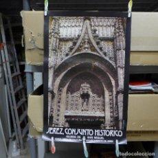 Carteles de Turismo: CARTEL DE JEREZ CONJUNTO HISTORICO IGLESIA DE SAN MIGUEL. Lote 194249443
