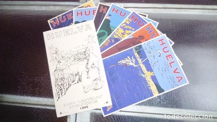 Carteles de Turismo: 7 CARTELES TURISTICOS HUELVA OSCAR MARINE & CHRISTIAN BOYER 1995 - Foto 8 - 195291677