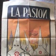 Carteles de Turismo: LA PASIÓN ANTIGUO CARTEL 1926,AUTOR MOYANO 86X64 CM. Lote 196078201