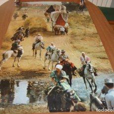 Carteles de Turismo: CARTEL POSTER ORIGINAL ESPAÑA ROMERIA DEL ROCIO SECRETARIA DE TURISMO 100 X 62 CM. Lote 196197557