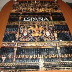 Carteles de Turismo: CARTEL POSTER ORIGINAL ESPAÑA CAPILLA REAL GRANADA SECRETARIA DE TURISMO 100 X 62 CM. Lote 196199532