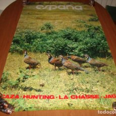 Carteles de Turismo: CARTEL POSTER ORIGINAL ESPAÑA CAZA SECRETARIA DE TURISMO 100 X 62 CM. Lote 196199577