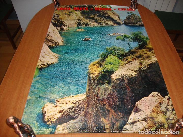 CARTEL POSTER ORIGINAL ESPAÑA COSTA BRAVA GERONA SECRETARIA DE TURISMO 100 X 62 CM (Coleccionismo - Carteles Gran Formato - Carteles Turismo)