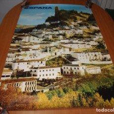 Carteles de Turismo: CARTEL POSTER ORIGINAL ESPAÑA CASSTILLO DE MONTEFRIO GRANADA SECRETARIA DE TURISMO 100 X 62 CM. Lote 196203277