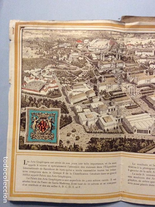 Carteles de Turismo: BARCELONA EXPOSITION INTERNATIONALE BARCELONE E1929. - Foto 3 - 197445242