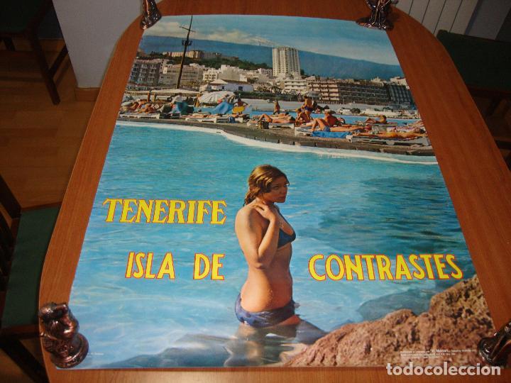 CARTEL ESPAÑA TENERIFE ISLA DE CONTRASTES 100 X 60 CM APROX (Coleccionismo - Carteles Gran Formato - Carteles Turismo)
