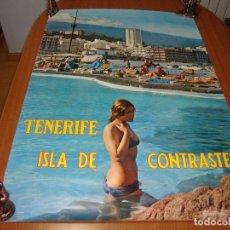 Carteles de Turismo: CARTEL ESPAÑA TENERIFE ISLA DE CONTRASTES 100 X 60 CM APROX. Lote 199125795