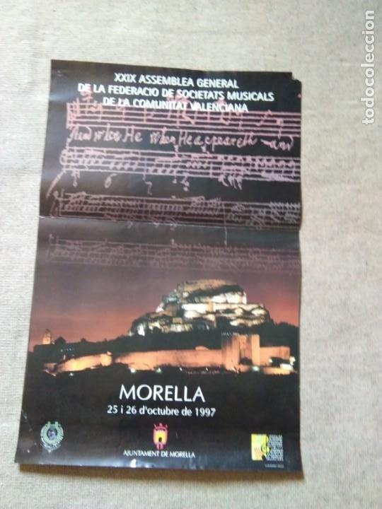 PÒSTER MORELLA. XXIX ASEMBLEA GRAL. FED. SOC.MUSICALES.COM.VALENCIANA (Coleccionismo - Carteles Gran Formato - Carteles Turismo)