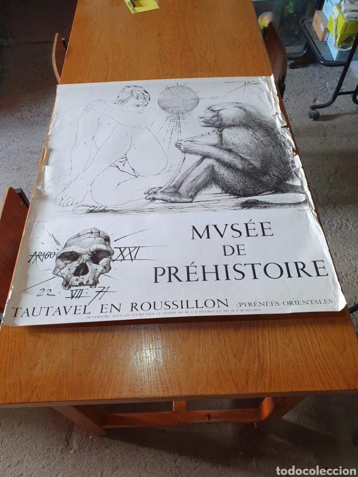 MUSÉE DE PRÉHISTOIRE, TAUTAVEL EN ROUSSILLON, 22 / 7 / 71, 86 CM X 74, VER FOTOS. (Coleccionismo - Carteles Gran Formato - Carteles Turismo)