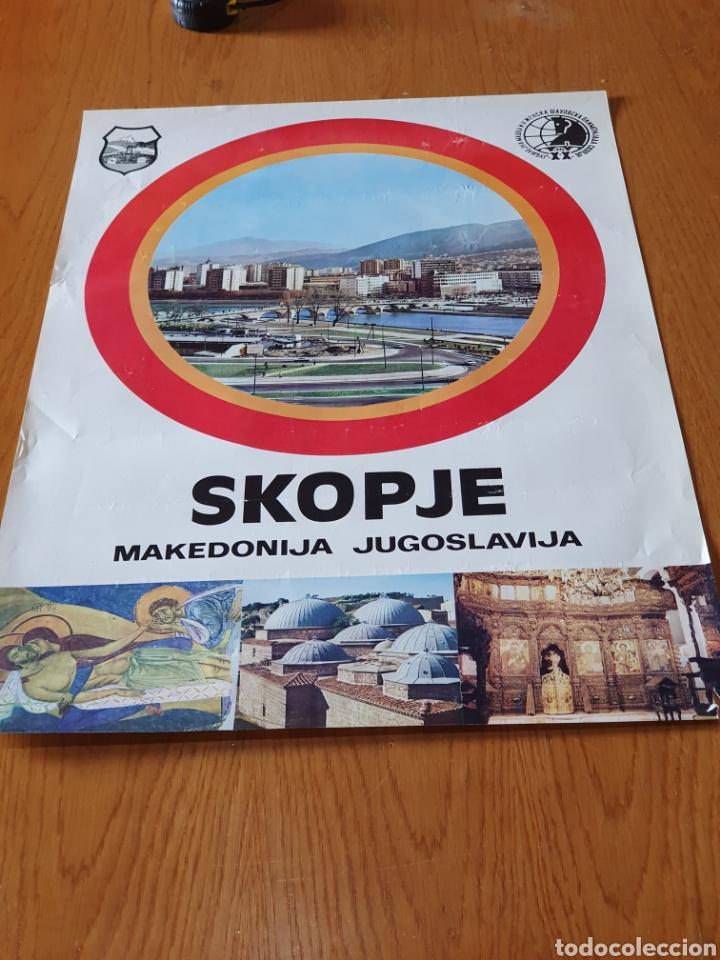 SKOPJE, MAKEDONIJA, JUGOSLAVIJA, 1972, 68 CM X 48 CM. (Coleccionismo - Carteles Gran Formato - Carteles Turismo)