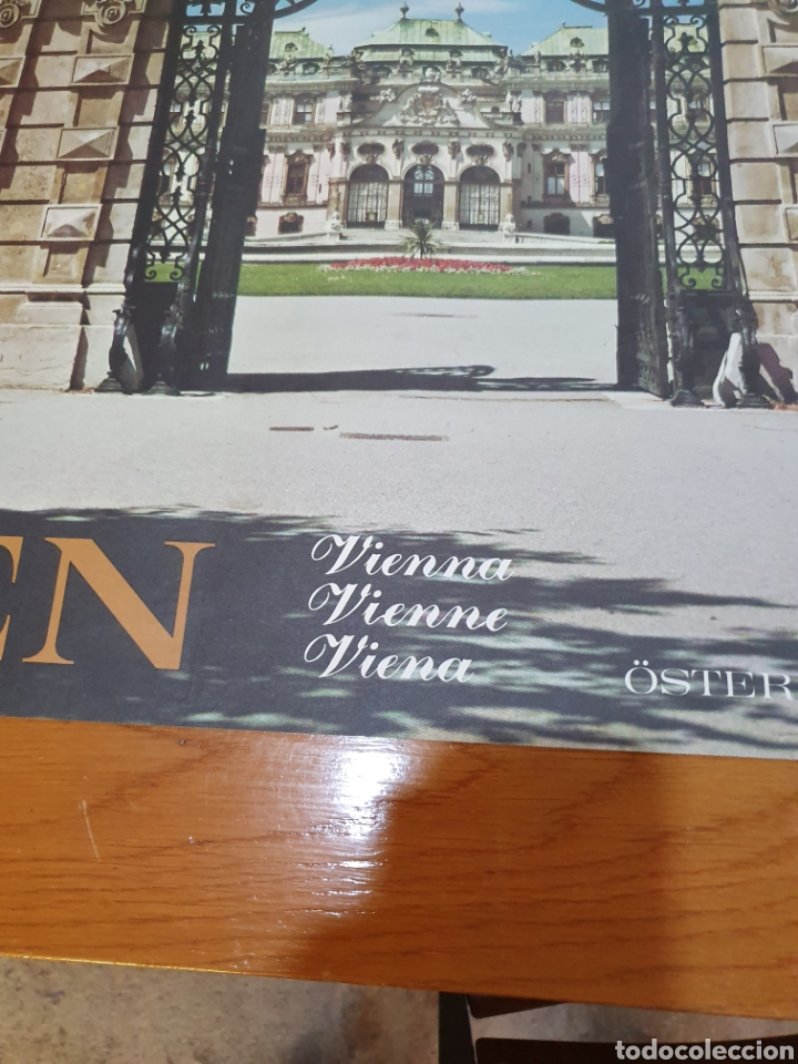 Carteles de Turismo: Wien, Viena, österreiich, Austria, autriche, de los 70, 84 cm x 59 cm. - Foto 3 - 200016600