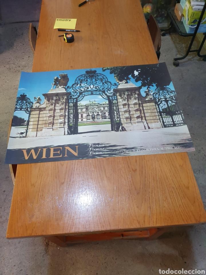 WIEN, VIENA, ÖSTERREIICH, AUSTRIA, AUTRICHE, DE LOS 70, 84 CM X 59 CM. (Coleccionismo - Carteles Gran Formato - Carteles Turismo)