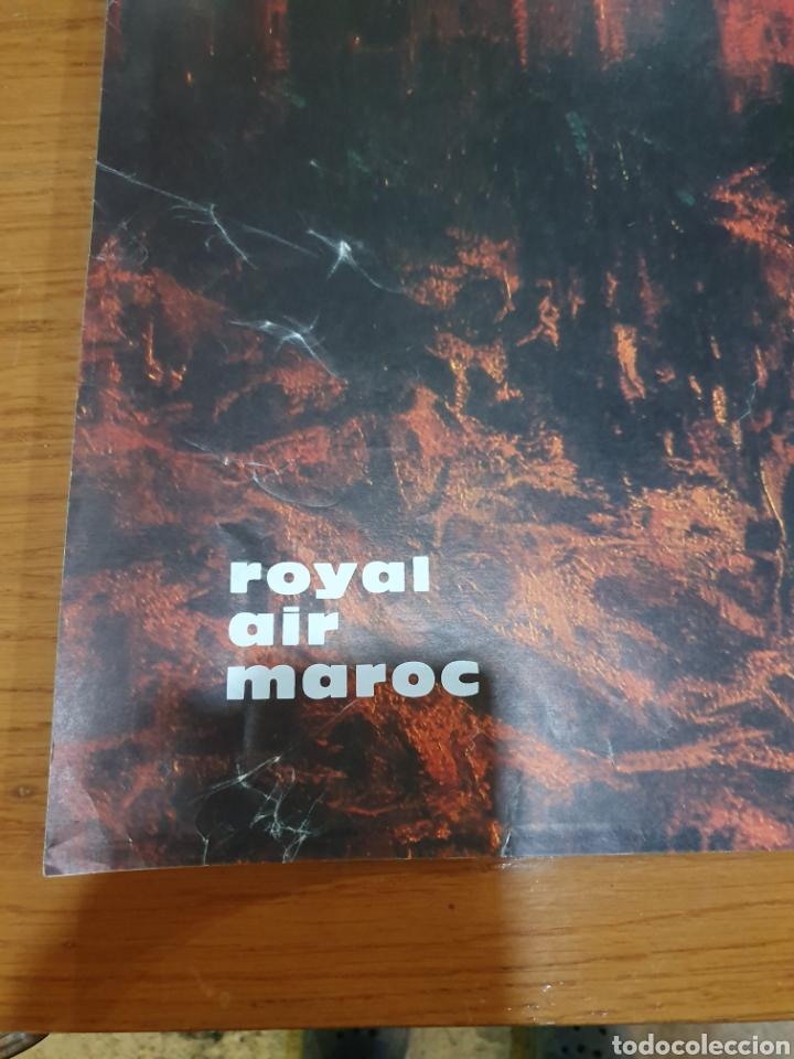 Carteles de Turismo: Colors of morocho, royal air maroc, 95 cm x 69 cm, de los años 70, - Foto 3 - 200017870