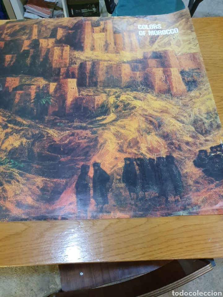 Carteles de Turismo: Colors of morocho, royal air maroc, 95 cm x 69 cm, de los años 70, - Foto 8 - 200017870