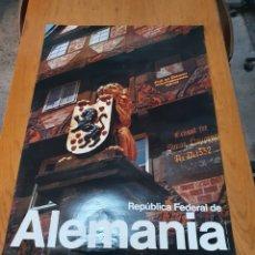 Carteles de Turismo: REPÚBLICA FEDERAL DE ALEMANIA, 84 CM X 89 CM,, FOTO, HEINE STILLMARK.. Lote 200057908