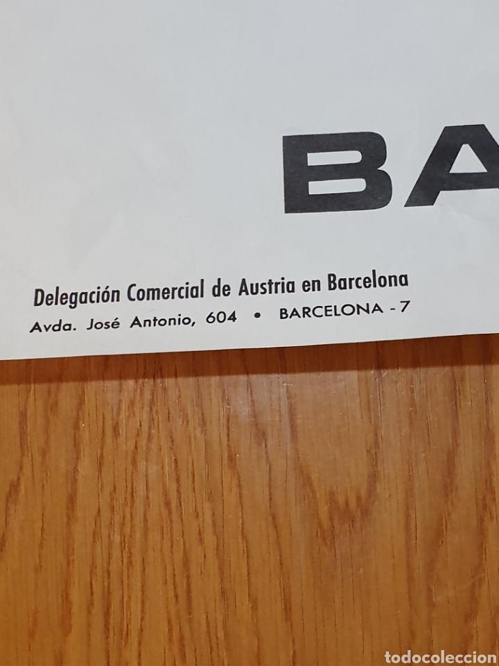 Carteles de Turismo: Austria, saluda a barcelona, 84 cm x 59 cm, años 70 - Foto 2 - 200060198