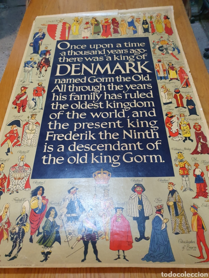 Carteles de Turismo: Denmark, 100 cm x 63 cm. 1960. - Foto 5 - 200062921